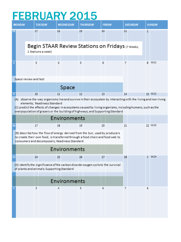 sample planning for a month