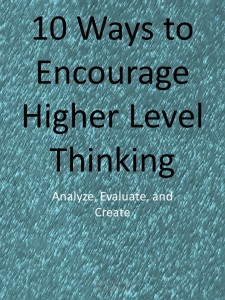 higher level thinking activities