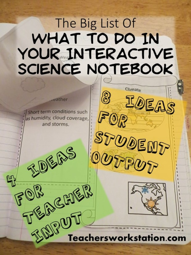 What to do in your interactive science notebook