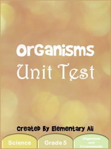 organisms unit testc