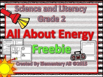 science and literacy freebie ENERGY