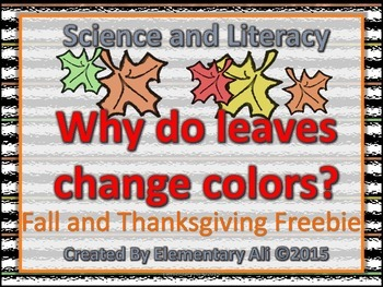science and literacy freebie FALL
