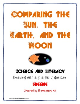 science and literacy freebie SUN EARTH MOON