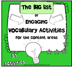 Big List of Vocabulary Activities