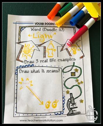 vocab doodle notes