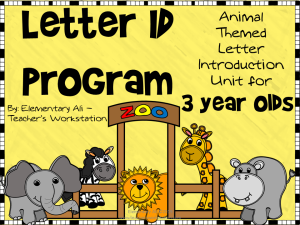 3 year old letter id program