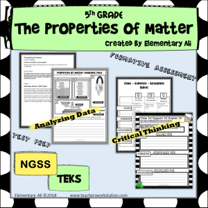 Properties of Matter thinking 5th