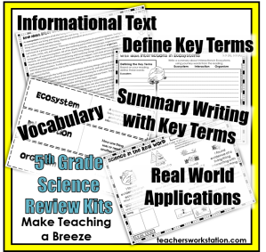 10 Ways to Make Teaching Easier - 5th Grade Science Review Kits 3