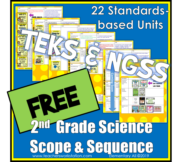 2nd grade scope freebie
