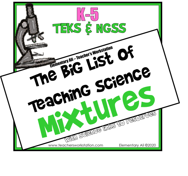 The Big List of Teaching Science - Mixtures